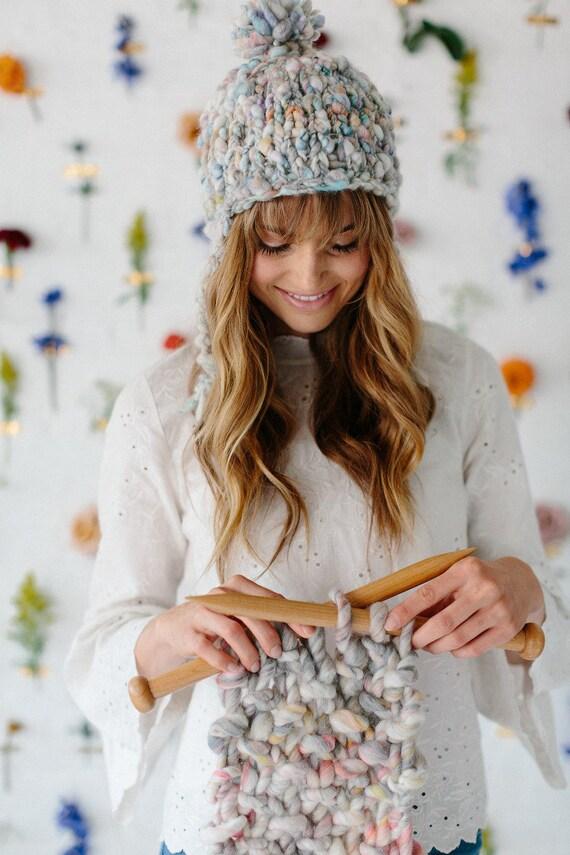 Easy Knit Hat Pattern Easy Knitting Patterns Knitting Etsy
