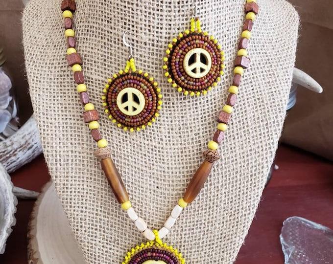 Peace Symbol Jewelry Set