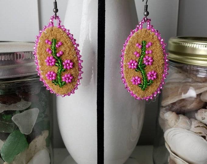 Fireweed Flower Earrings