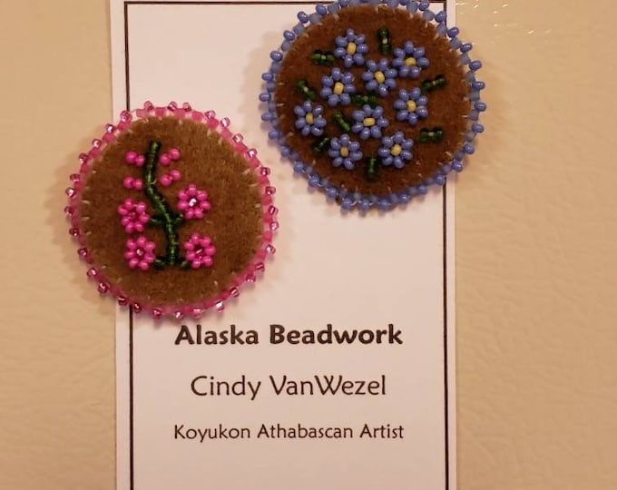 Fireweed & Forget-Me-Not Flower Magnets
