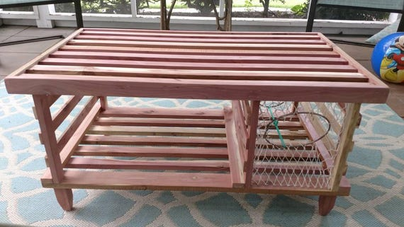 Admirable Cedar Lobster Trap Coffee Table Made In Usa Shipping Included Plexiglass Not Included Andrewgaddart Wooden Chair Designs For Living Room Andrewgaddartcom
