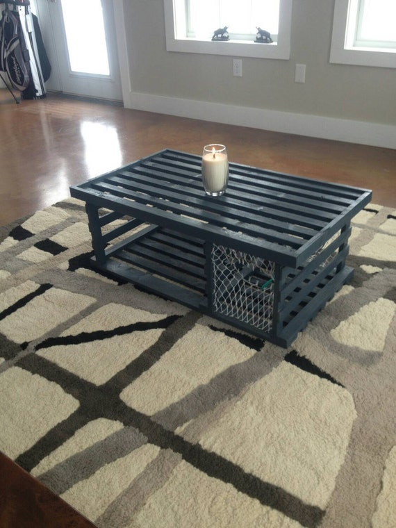 Astonishing Navy Blue Wooden Lobster Trap Coffee Table Made In Maine And Sc Plexiglass Not Included Andrewgaddart Wooden Chair Designs For Living Room Andrewgaddartcom