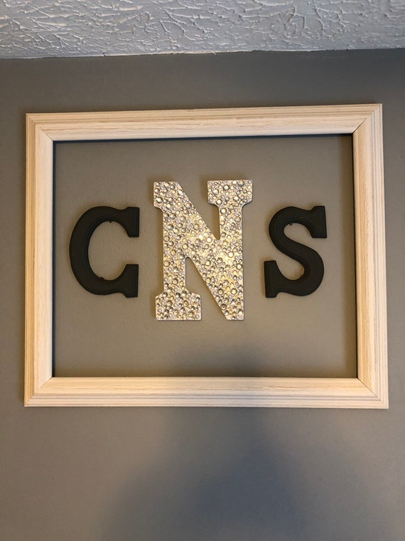 Personalized Initials Baby Room Wall Decor Initial Wall Etsy
