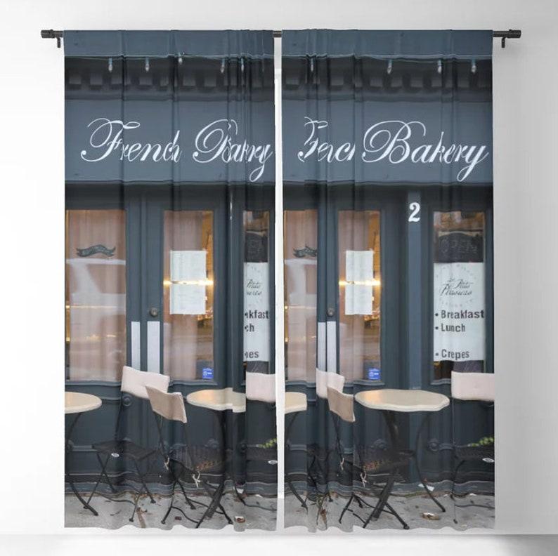 Superieur Cafe Curtains, Paris Curtains, French Bakery Window Curtains, Paris Window  Treatments, Loft Curtain Panels, Kitchen, Street Cafe Curtains,