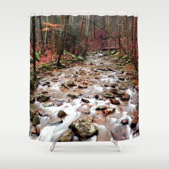Creek Shower Curtain River Landscape Decor