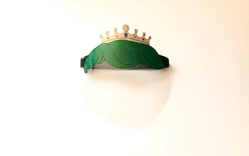 Face mask made in USA Reusable face shield mask visor Children/'s Adult/'s face shield Green Prince PPE face shield Splash guard