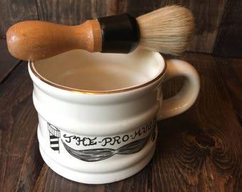 Shaving set- brush,mug and aftershave bottle