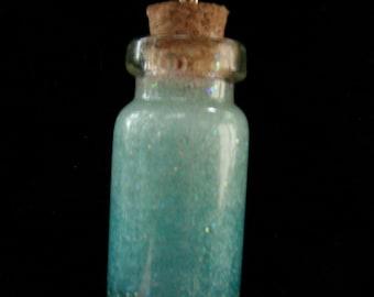 Blue Ombre Bottle Charm Necklace