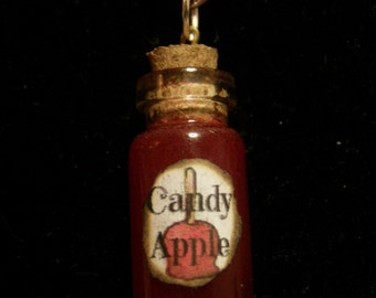 Candy Apple Bottle Charm Necklace