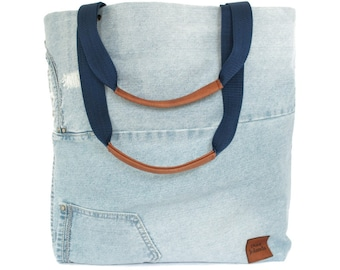 80eba1dd836 Jeans tas, upcycle mode, shopper groot, stoere grote tote, duurzame mode  accessoires, totebag
