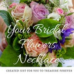 Real Flower Necklace, Wedding Keepsake, Wedding Flowers Necklace, 4th Anniversary Gift, Memorial Flower Jewelry, Dried Flower Bouquet