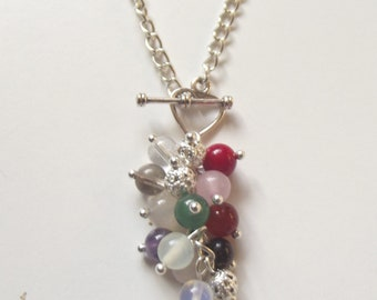 Pregnancy protection and fertility healing gemstone necklace