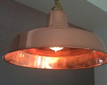 Lampada a sospensione vintage in metallo cromato di reggiani in