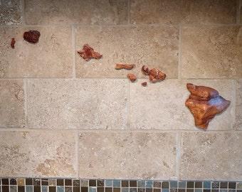 Hawaii Island Wall Art Miniature Size