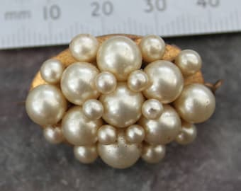 Beaded Pearl Vintage Brooch