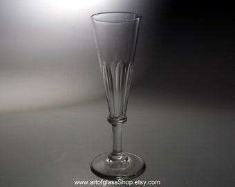 Antique petal cut ale glass