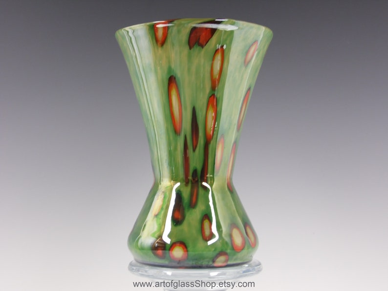 Kralik 1920s/1930s Art Deco murrine glass vase image 0