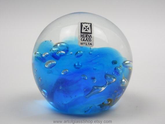 Mdina Glass Paperweight Etsy