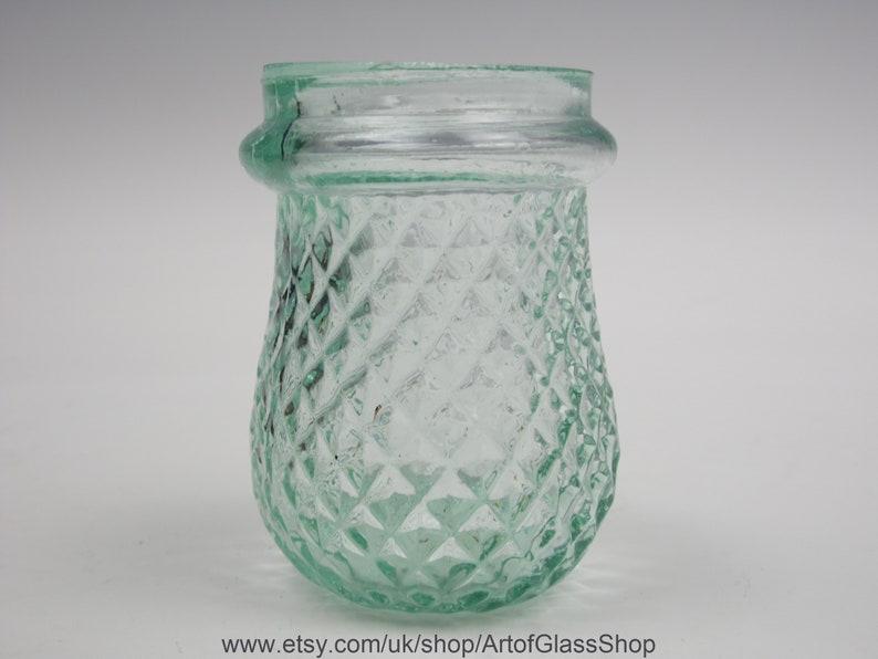 Vintage clear glass Christmas/fairy/night/tea light votive 10 image 0