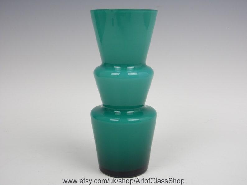 Vintage 1960s/1970s Lindshammar glass vase image 0