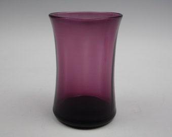 Vintage amethyst coloured glass posy vase