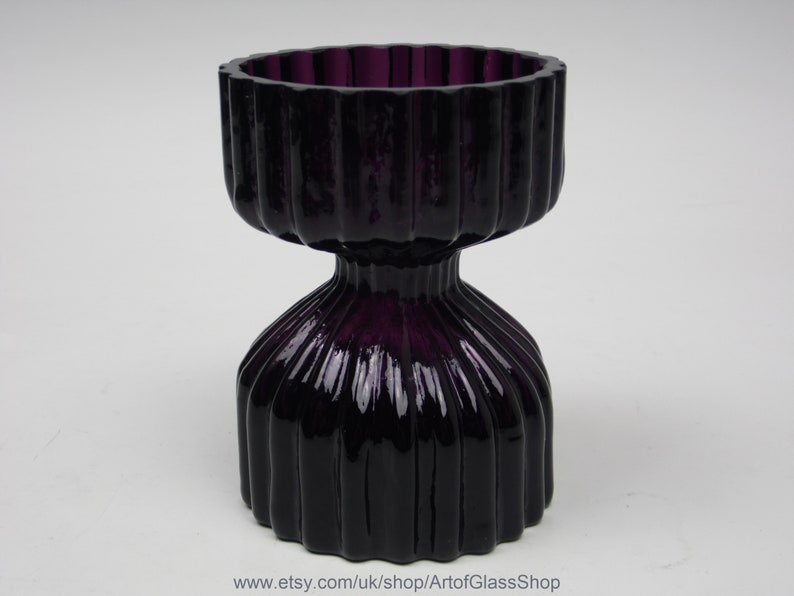 Wedgwood amethyst glass candle holder by Ronald image 0