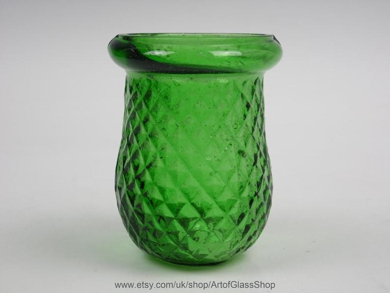 Antique Victorian green glass Christmas/fairy/night/tea light image 0