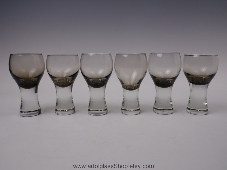 set of 6 Caithness Glass 'Canisbay' peat coloured image 0