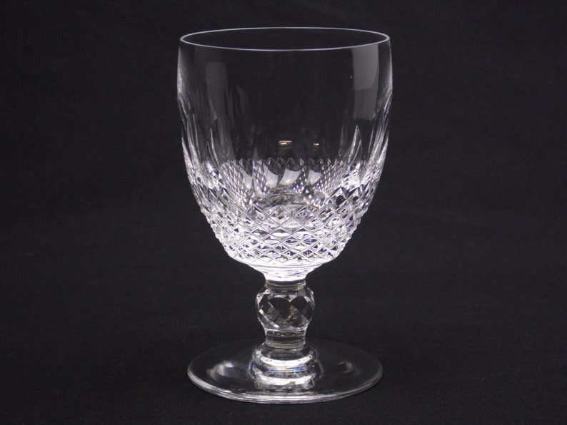 5.25 Waterford Crystal Colleen cut glass short stem image 0