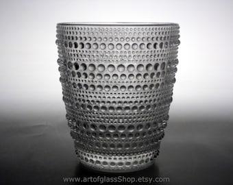 Nuutajarvi 'Kastehelmi' glass tumbler by Oiva Toikka