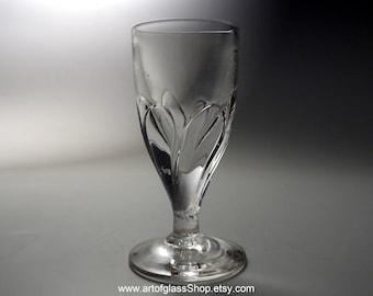 Antique moulded-petal deceptive glass