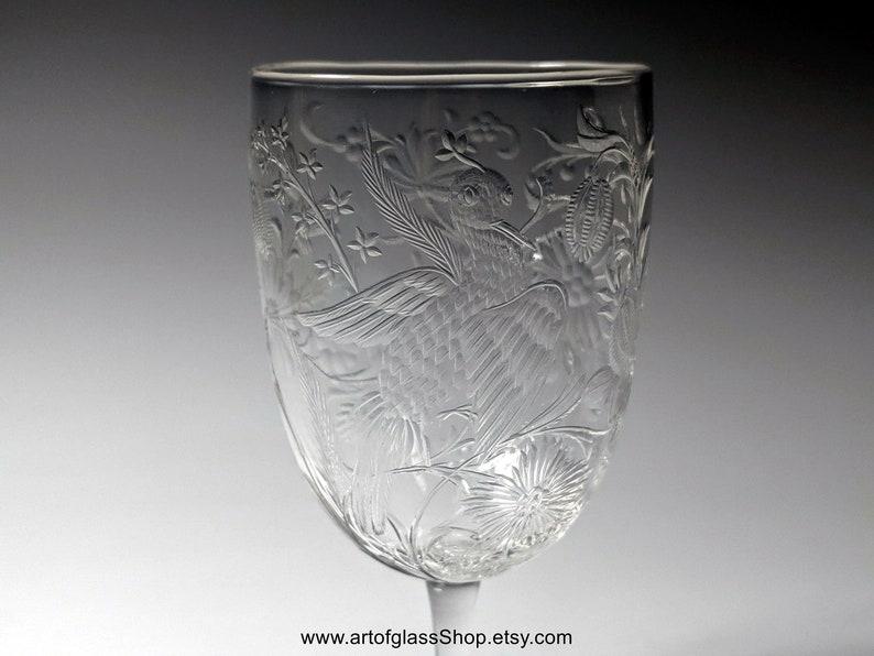 Stevens & Williams intaglio exotic birds glass 2 image 0