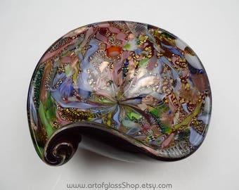 Vintage 1950s Murano AVEM 'Bizantino' glass bowl