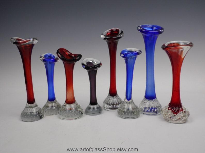 8 Swedish Aseda vintage glass jack-in-a-pulpit image 0