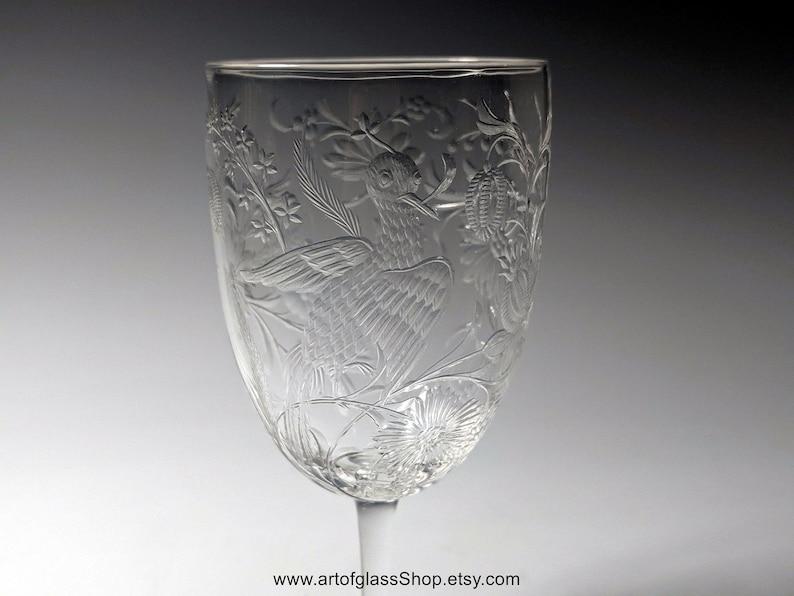 Stevens & Williams intaglio exotic birds glass 3 image 0