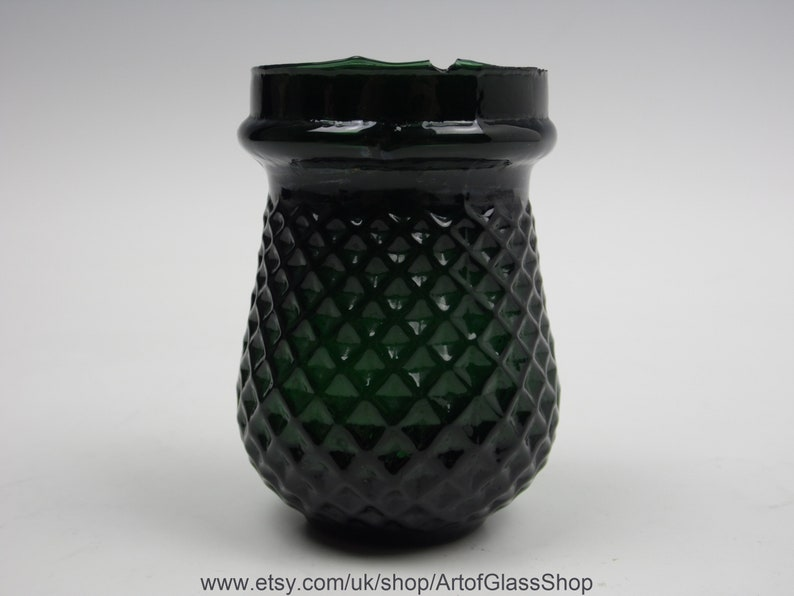 Antique Victorian dark green glass Christmas/fairy/night/tea image 0