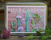 Herb garden kit ,6 packets of herb seeds, gardening gift set, holiday gift, hostess gift, indoor herb garden gift set, diy gift for mom
