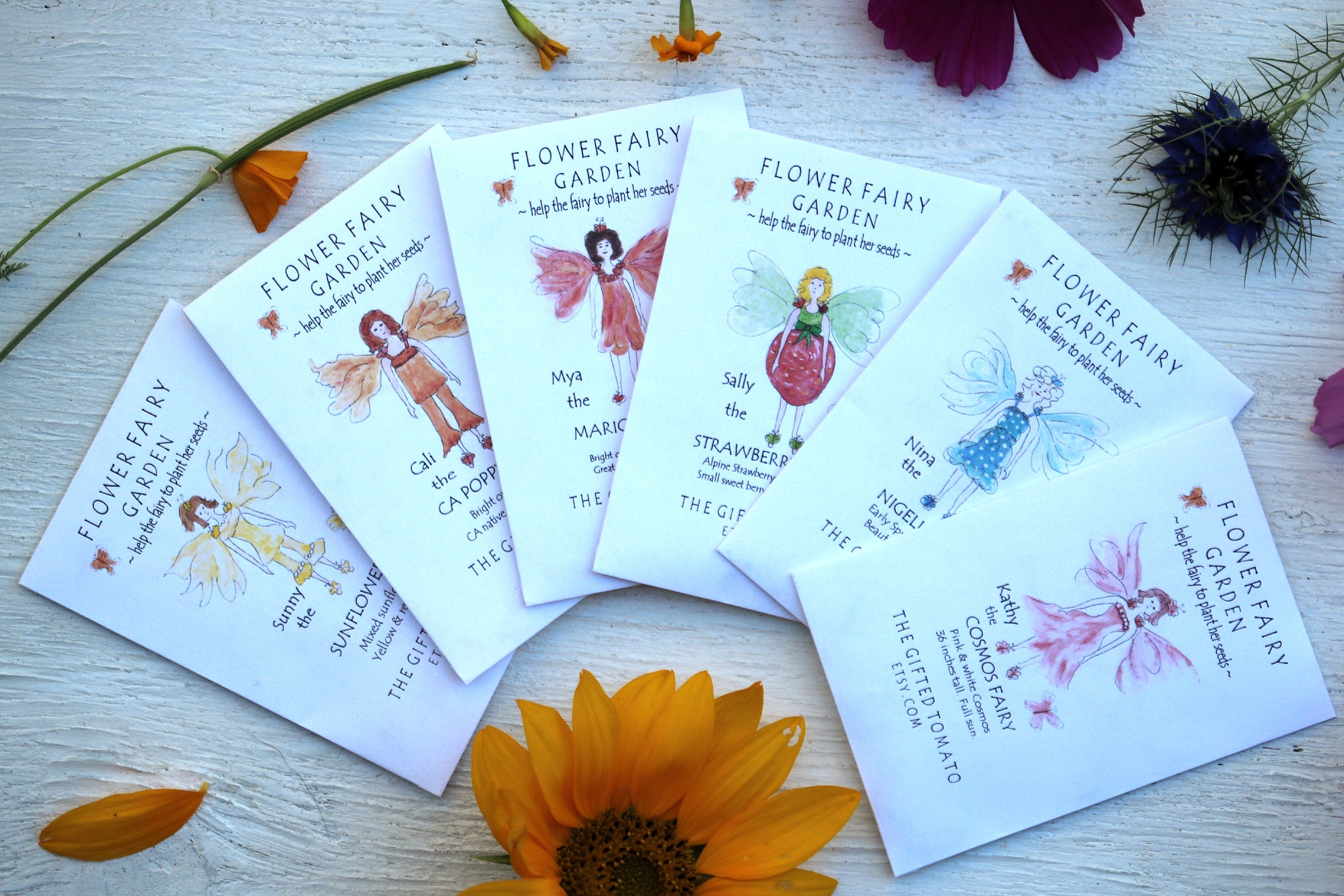 6 Flower Fairy Seeds Flower Seeds For A Fairy Party Favor Etsy
