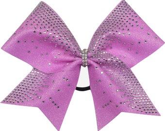 Dazzle Rhinestone Pink Glitter Cheer Bow
