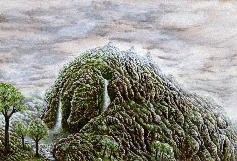 The Slumbering Giant A5 art print image 0