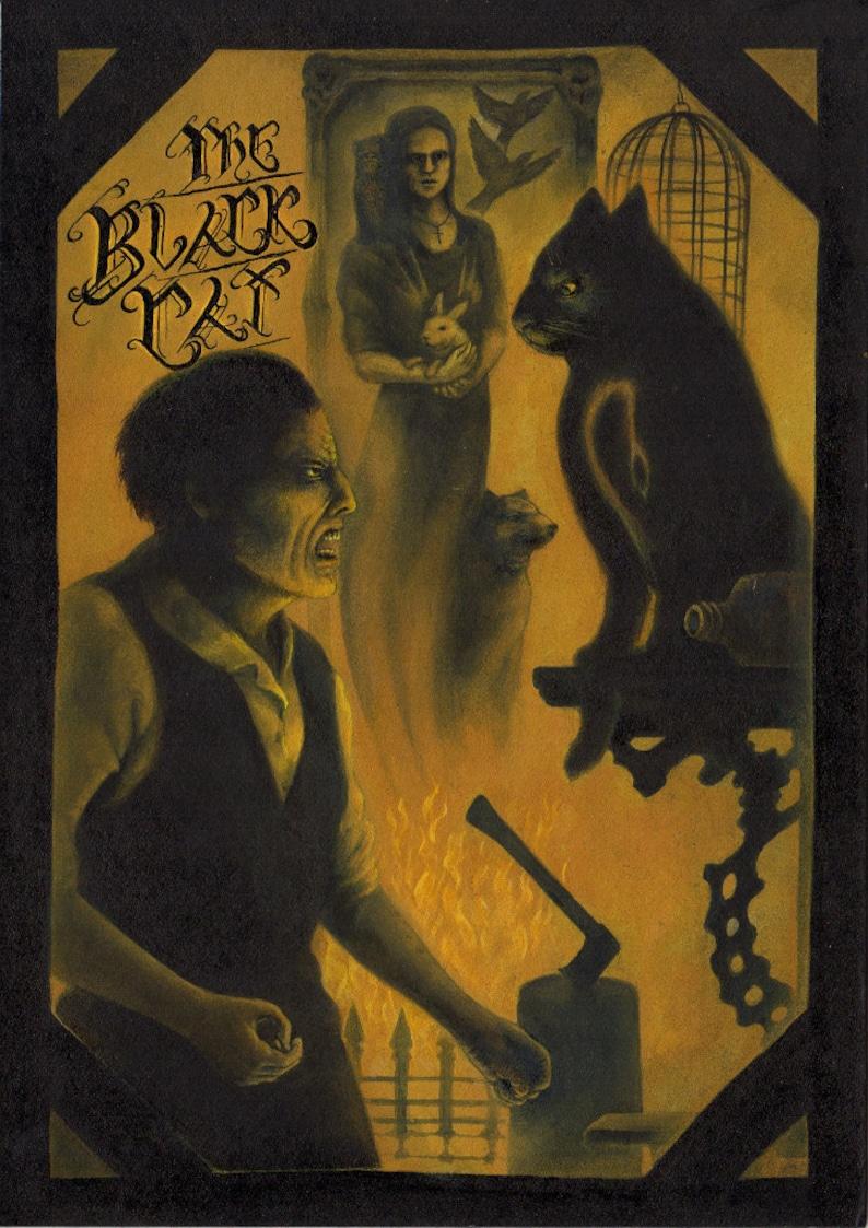 Poe's The Black Cat A4 art print image 0