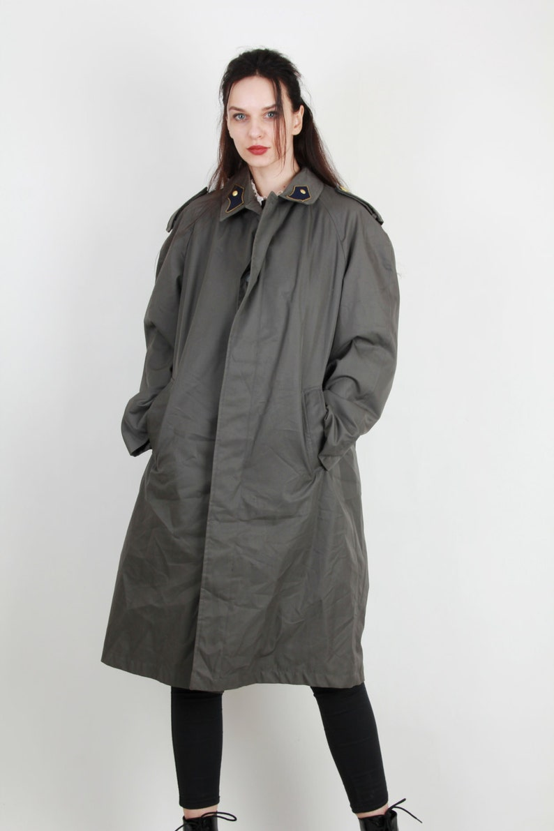 Jahrgang Chesterfield Mantel Jacke Box Militär Herren Mantel grauen Mantel Epaulet Mantel Maxi Mantel langen Mantel minimalistischen