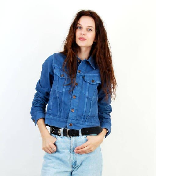 Courte Crop Denim Etsy Zwrvxq11s Jean Veste Jacket En Bleu vnN80wm