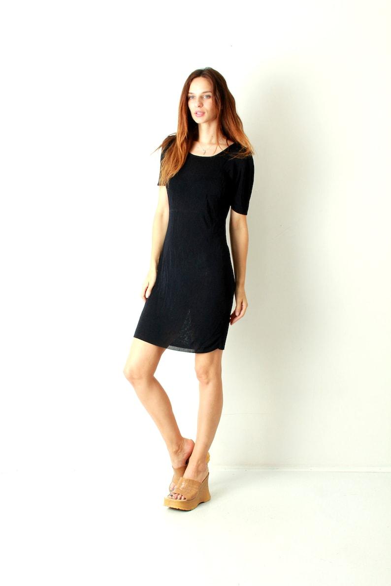 Navy Blue Dress   Knit Dress   Sweater Dress   Short Sleeve Dress   Midi  Dress   Simple Dress ... b68a87a4a