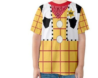 Toy story Woody Tshirt - Toddler Woody Costume - toy story - Birthday Costume - Halloween Outfit- Toy Story Costume - toddler costume - kids  sc 1 st  Etsy & Toy story Woody tshirt Woody Costume for Woman Toy Story