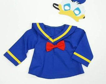 Donald Duck Top - Donald Duck Costume - Birthday Costume - Donald Duck  Shirt - Donald Duck f8a0427cc18d