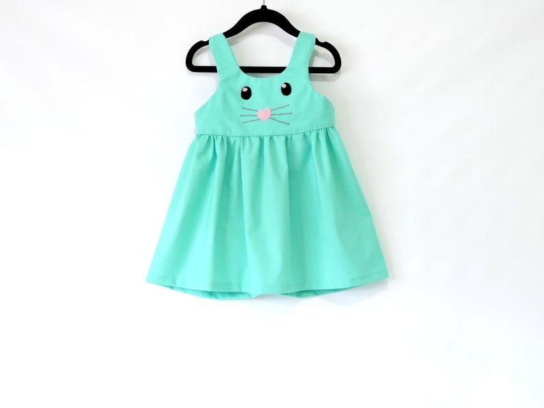 d97dbac91 Bunny Girl Dress Toddler Dress Easter dress Baby Girl