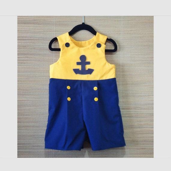 strampler f r jungen sailor baby boy strampler etsy. Black Bedroom Furniture Sets. Home Design Ideas