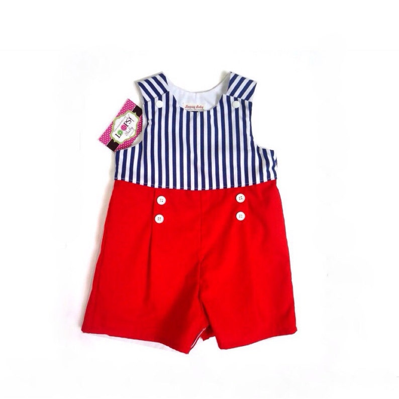 243053d33 Jumpsuit for boys Romper for baby boy nautical outfit
