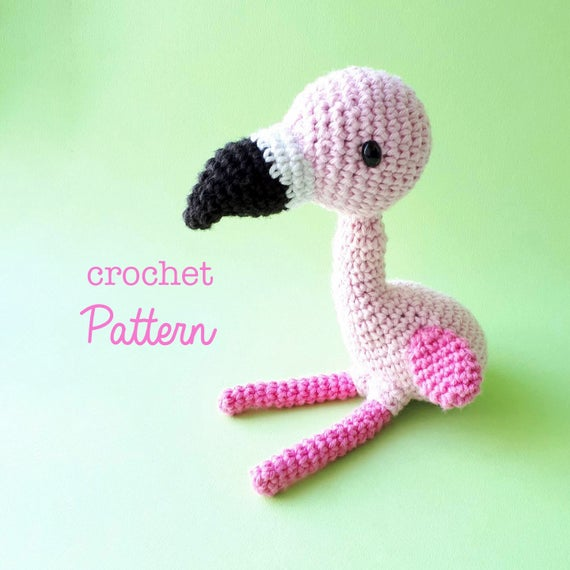 Charlotte Crochet Flamingo Pattern Amigurumi Flamingo Bird Etsy